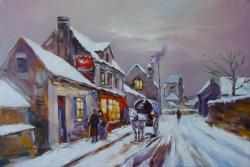 Picturi de iarna iarna pe strada