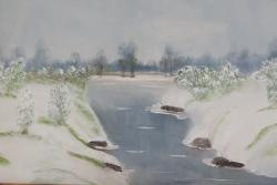 Picturi de iarna ceata de iarna