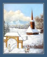 Picturi de iarna Iarna maramuresana