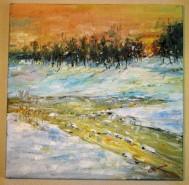 Picturi de iarna Apus de iarna