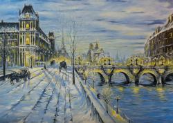 Picturi de iarna Winter in Paris