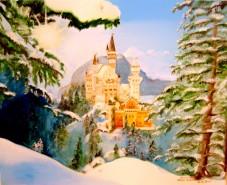 Picturi de iarna Castelul newschwanstein