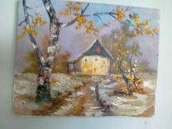 Picturi de iarna casuta iarna