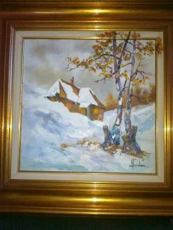 Picturi de iarna iarna  la tara