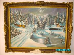 Picturi de iarna Vraja unei seri de iarna