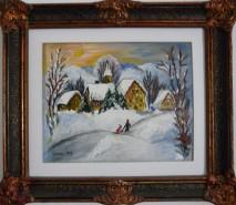Picturi de iarna Sat de munte iarna