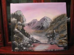 Picturi de iarna Lacul dintre munti