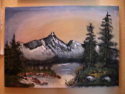 Picturi de iarna Muntele inzapezit