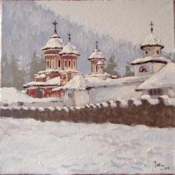 Picturi de iarna manastirea sinaia