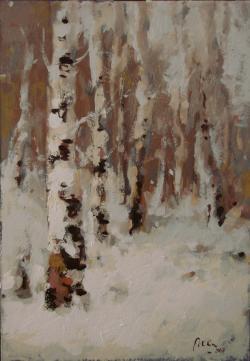 Picturi de iarna Mesteceni in  iarna