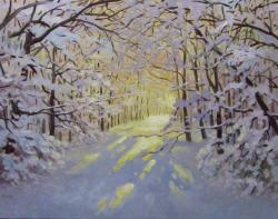 Picturi de iarna IARNA SI LUMINA