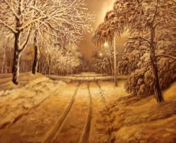 Picturi de iarna noapte de iarna E. S. 2017