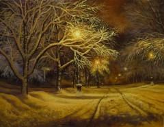 Picturi de iarna Noaptea mea de iarna