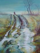 Picturi de iarna Drumul spre casa