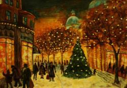 Picturi de iarna Iarna in centru...