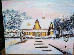 Picturi de iarna Iarna acasa