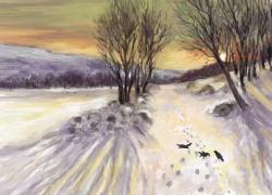 Picturi de iarna dimineata de iarna 3