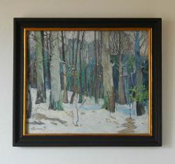 Picturi de iarna iarna in padure 8.