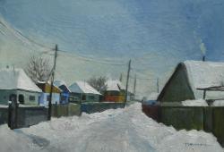 Picturi de iarna Zapada prin Buchila