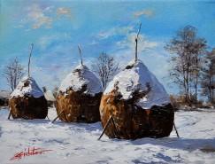 Picturi de iarna Iarna cu capite