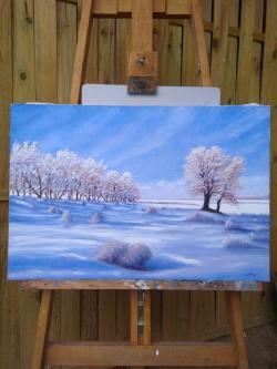 Picturi de iarna Liniștea zăpezii