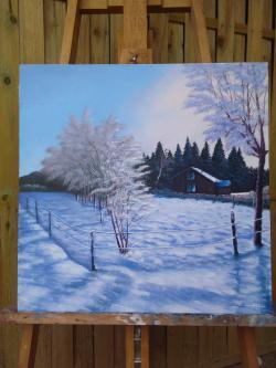 Picturi de iarna Liniștea zăpezii 2