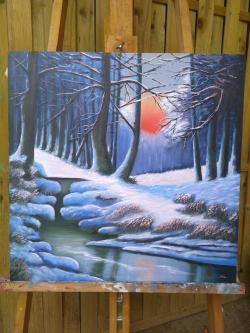 Picturi de iarna Liniștea zăpezii 3