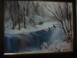 Picturi de iarna iarna pe lac