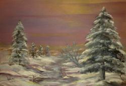 Picturi de iarna violet de iarna