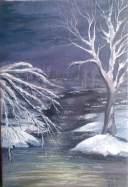 Picturi de iarna Vis de iarna 3