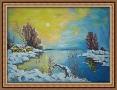 Picturi de iarna Peisaj de iarna