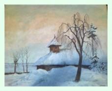 Picturi de iarna Biserica