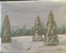 Picturi de iarna Iarna in padure