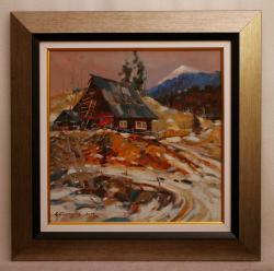 Picturi de iarna casa in apuseni