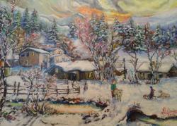 Picturi de iarna Inserare dupa ninsoare