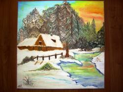 Picturi de iarna Albul iernii