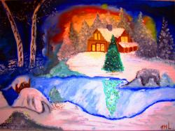 Picturi de iarna Feerie de craciun