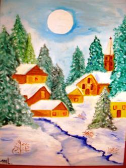 Picturi de iarna Iarna alba