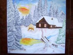 Picturi de iarna Iarna printre brazi
