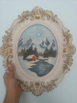 Picturi de iarna Tablou iarna