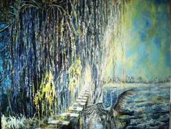 Picturi de iarna salcie plangatoare iarna