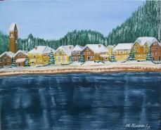 Picturi de iarna Lac elvetian