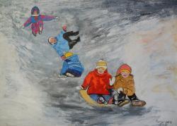 Picturi de iarna Iarna fericita