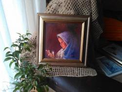 Picturi cu potrete/nuduri Lumina noptii sfinte de Craciun