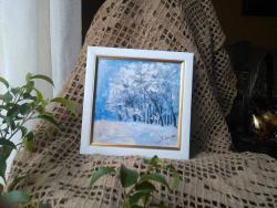 Picturi de iarna Pomi incarcati cu omat