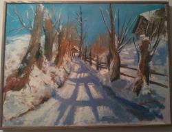 Picturi de iarna Umbre înghețate