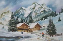 Picturi de iarna Iarna pe ulita