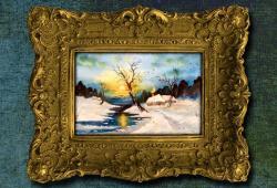 Picturi de iarna Mic tablou de iarna