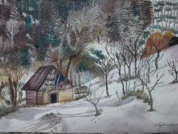 Picturi de iarna Pastel de Iarna-
