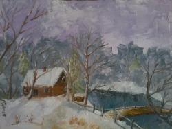 Picturi de iarna Peisaj de iarna 4